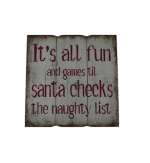 NAUGHTY LIST WALL PICTURE