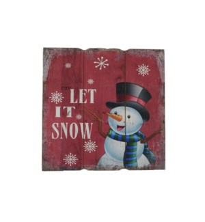 LET IT SNOW WALL PICTURE