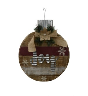 WOOD WALL PLAQUE WITH JOY