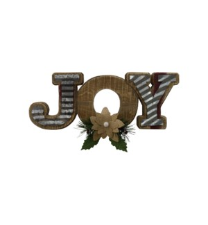 """WOOD """"JOY"""" WELCOME SIGN (6PC/"""
