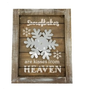 WOOD SNOWFLAKE WALL PLAQUE