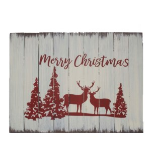 MERRY CHRISTMAS WOOD SIGN W/DE
