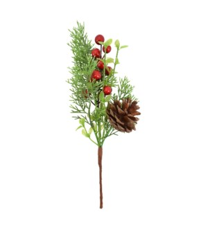 RED BARRY PINECONE PICK H11.5
