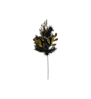 PINE BERRY LEAVES SPRAY (12PC/