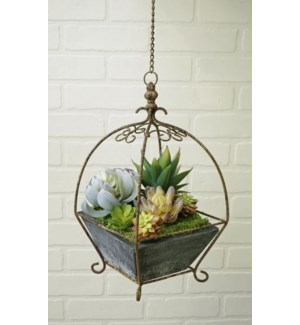 Rectangular Hanging Planter