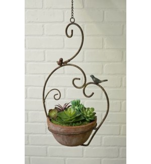 Scroll Hanging Planter