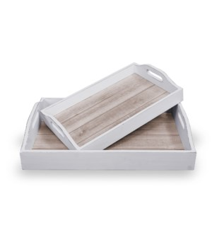 Trays, s/2, Natural