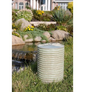 Green Ripples Garden Stool