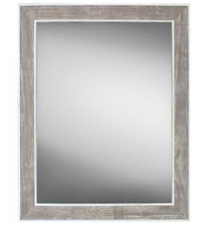 Coastal Grey Mirror, 30x40