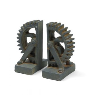 Cog Wheel Bookends