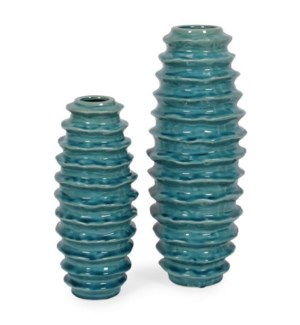 Waves, Turquoise (set of 2)