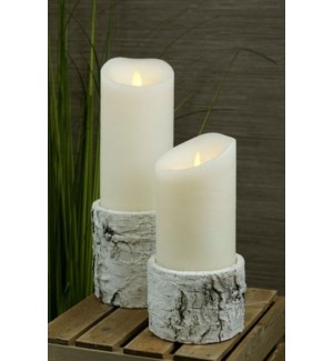 Birch Candle Holder/Planter Set