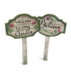 Garden Signs (2 assorted colors)