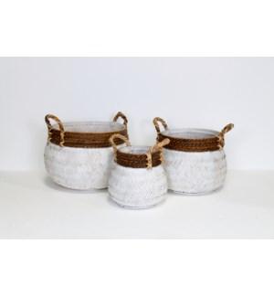 Tonga Basket, White