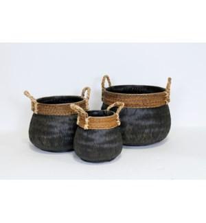 Tonga Basket, Black