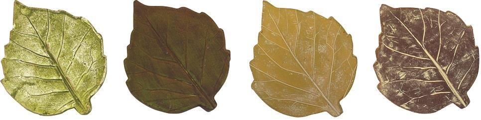 Aspen Leaf Coasters, Assorted colors w/stand 5x5 inch. Pg.56 - On Sale 50 percent off original pri