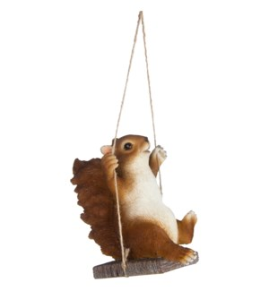 Squirrel on swing