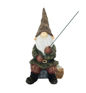Gnome with fishing-rod