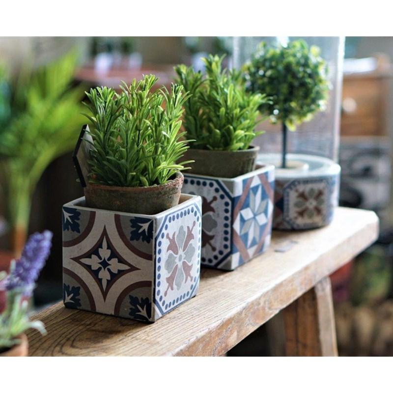 Portuguese Tiles Flower Pot S
