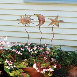 20   Flamed Moon Garden Stake 4x20 inch. Pg.40 - On Sale 50 percent off original price 4.5