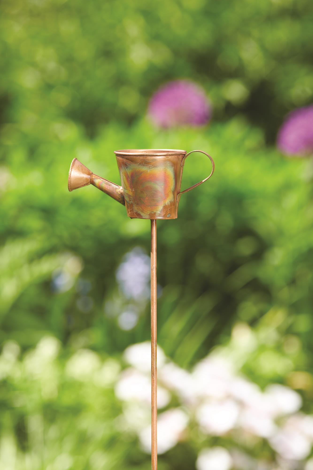 28 Flamed Watering Can Garden Stake 5x2.5x28 Inch. Pg.37   On