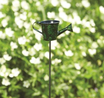 28   Green Watering Can Garden Stake 5x2.5x28 inch. Pg.37 - On Sale 50 percent off original price 9
