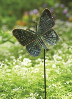 26.5   Antique Verdigris Butterfly Garden Stake 9x26.5 inch. Pg.37 - On Sale 50 percent off original