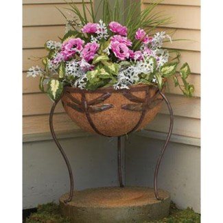 Flamed Dragonfly Basket Planter, Standing,14x15inch.- On Sale 50 percent off original price 47.7