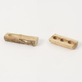 Miniature Wood Low Planters, Set of 2 3.5x1.5x.75/4x1.5x.75 inch. Pg.61 - On Sale 50 percent off o
