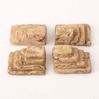 Miniature Clay Ruins Corner Steps, 2.5 x 2.5 x 1inch. FD 6.30 - On Sale 50 percent off original pr