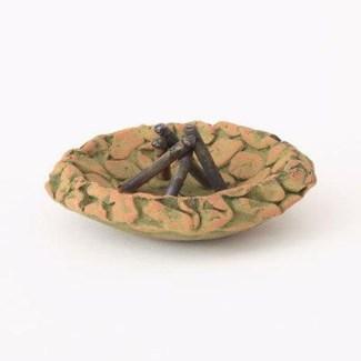 Miniature Green Terra Cotta Fire Pit 4x2 inch. Pg.62 - On Sale 50 percent off original price 6.3