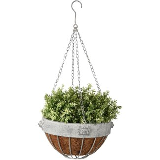 AM lion hanging basket - 10.5x10.5x6.5 inches