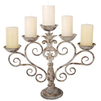 Aged Metal candelabra. Aged Metal. 53,5x14,9x43,0cm. oq/4,mc/4 Pg.111FD