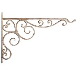 Aged Metal hanging basket hook. Aged Metal. 35,4x1,8x24,5cm. oq/6,mc/24 Pg.111FD