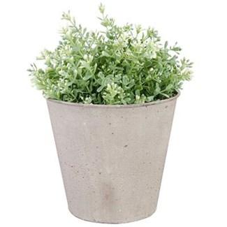 Aged Metal flowerpot. Aged Metal. 17,0x17,0x15,2cm.
