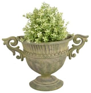 Aged Metal Green wall urn. Aged Metal. 35,3x12,2x21,8cm. oq/12,mc/12