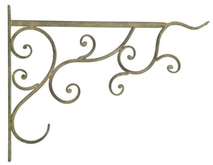 Aged Metal Green basket hook. Aged Metal. 34,5x2,2x26,3cm. oq/12,mc/12 Pg.112