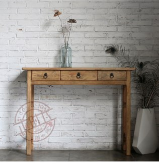 Small Console Table, Recycled Elm Wood, 51.2x13.8x33.5 Inches