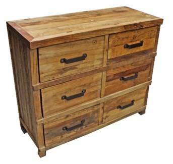 Chest of 6 Drawers/Buffet Console Table, Tibetan Elmwood, 41.2Lx18Dx35H, 20% Off Sale