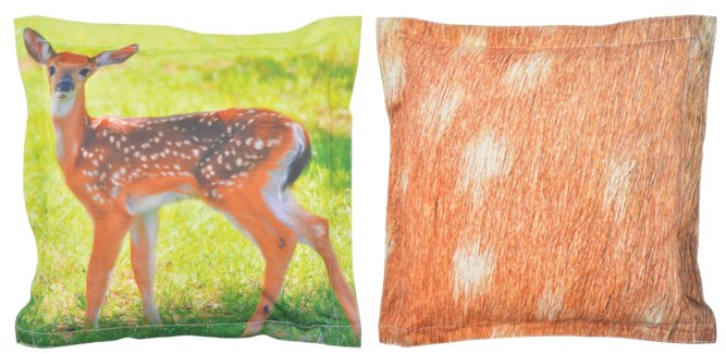 Outdoor cushion deer S. 600D PVC woven material, non woven, PP filling. 41,5x41,5x10,2cm. *On Sale 5