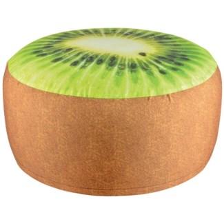 Outdoor pouffe kiwi. Polyester, PVC. 58,0x58,0x32,5cm. oq/6,mc/12 Pg.122