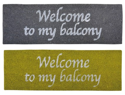 Balcony doormat ass. Coconut fibre, PVC. 75,0x25,0x2,0cm. oq/6,mc/6 Pg.83FD