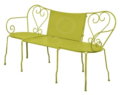 Bench classic green. Metal. 153,0x47,0x83,5/153,0x77,5x83,5cm. oq/1,mc/1 Pg.81