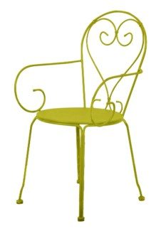 Chair classic green. Metal. 49,5x47,0x90,8cm. oq/2,mc/2 Pg.81