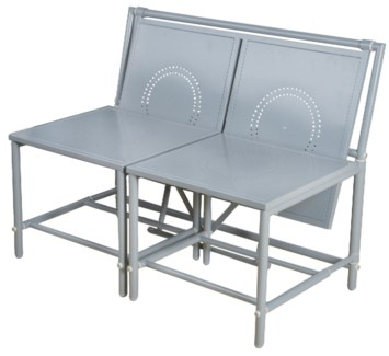Convertible bench grey. Metal. 98,0x54,0x74,0cm. oq/1,mc/1 Pg.81