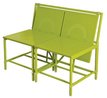 Convertible bench green. Metal. 98,0x54,0x74,0cm. oq/1,mc/1 Pg.81