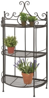 Etagere half round folding -  (23.4x11.8x45.1 inches)