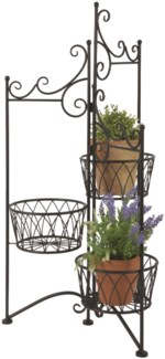 Plant stand for 3 pots folding - (19.3x17.1x38.5 inches) On Sale - 25 percent off original price 71.
