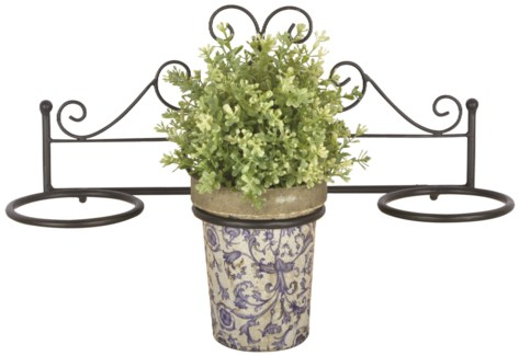 Flower pot holder triple -  (17x5.9x7.4 inches)
