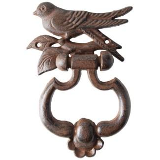 Bird silhouette doorknocker. Cast iron. 13,2x4,0x17,9cm. oq/12,mc/12 Pg.140